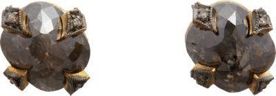 Cathy Waterman Rustic Diamond Thorn Stud Earrings