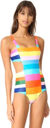 Mara Hoffman Cutout Side Swimsuit $225 thestylecure.com