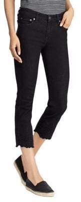 Lauren Ralph Lauren Mid-Rise Cropped Skinny Jeans