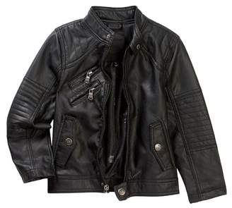 Urban Republic Faux Leather Moto Jacket (Toddler & Little Boys)