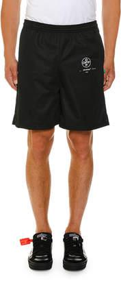 Off-White Off White Men's Stencil Mesh Shorts
