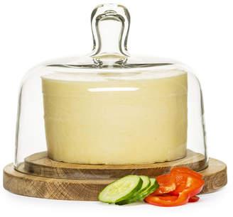 Sagaform Glass & Oak Nature Cheese Dome