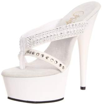 Pleaser USA Women's Delight-603-1/W/NB Platform Sandal