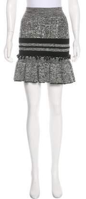 Alexander McQueen Wool Mini Skirt