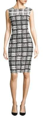 Donna Karan Printed Sleeveless Sheath Dress