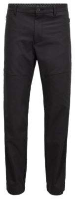 BOSS Hugo Cuffed pants in water-repellent four-way-stretch twill 32R Black