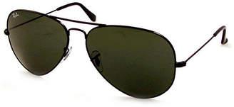 Ray-Ban Sunglasses - Rb3026 Aviator Large Metal Ii/ Frame: Black (62Mm) Lens: Green
