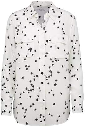 88a9e5eb83ba2 Equipment Slim Signature Shirt in Bright White Star Print