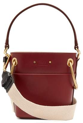 Chloé - Roy Mini Leather Bucket Bag - Womens - Burgundy