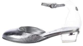 Chanel Metallic Ankle-Strap Pumps