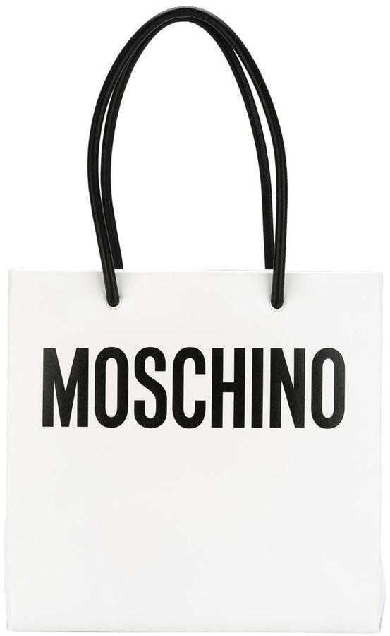 MoschinoMoschino logo print tote
