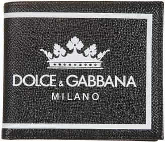 Dolce & Gabbana Crown Logo Bifold Wallet