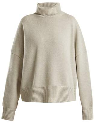 Nili Lotan Oversized roll-neck wool-cashmere sweater