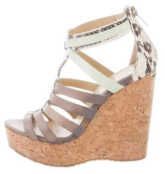 Jimmy Choo Caged Wedge Sandals