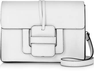 Le Parmentier White Leather Shoulder Bag