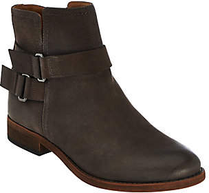 Franco Sarto Leather Ankle Boots w/ Buckle