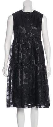 Giles Silk-Blend Midi Dress