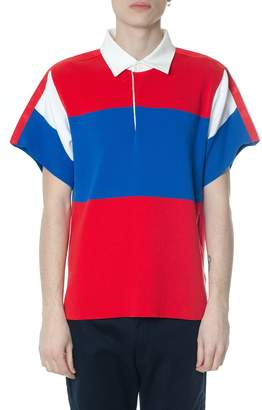 Tommy Hilfiger Red Oversized Rugby Polo