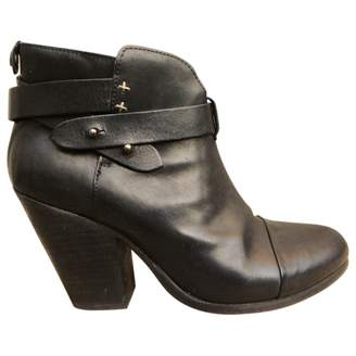 Rag & Bone Leather buckled boots