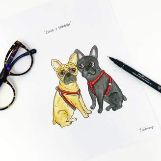 Izzie May Personalised Pet Portrait Dog/Cat Print