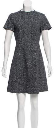 Theory Zip Accented A-Line Dress