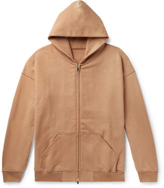 Fear Of God Oversized Loopback Cotton-Jersey Zip-Up Hoodie - Men - Brown
