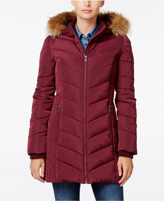 Tommy Hilfiger Faux-Fur-Trim Hooded Puffer Coat $245 thestylecure.com