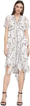 BCBGMAXAZRIA Naomee Floral Silk Chiffon Dress