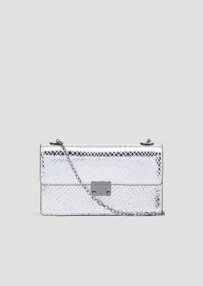 Emporio Armani Bag In Python-Print Laminate Leather With Shoulder Strap