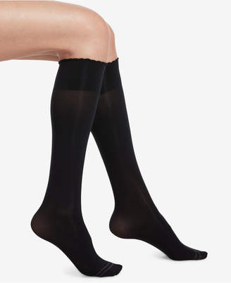 Hue Compression Opaque Knee-High Socks
