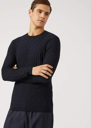 Emporio Armani Crew-Neck Cable-Stitch Sweater
