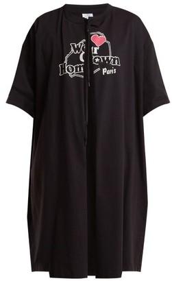 Vetements Printed T Shirt Coat - Womens - Black