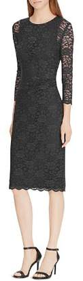 Ralph Lauren Lace Sheer-Sleeve Dress