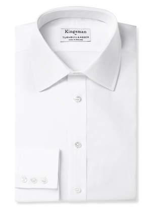 Turnbull & Asser Kingsman + White Cotton Royal Oxford Shirt