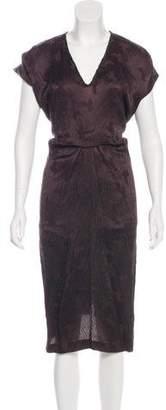Risto Printed Midi Dress