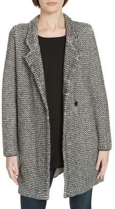 Eileen Fisher Organic Cotton Blend Tweed Coat