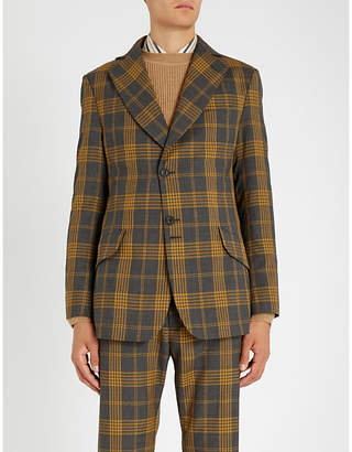Vivienne Westwood Peacock-checked regular-fit wool jacket