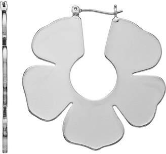 Inspire New York inspire NEW YORK Flower Nickel Free Hoop Earrings