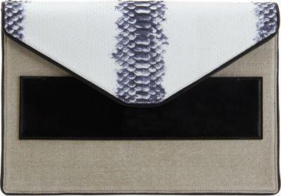 Narciso Rodriguez Python Large Envelope Clutch