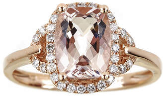 Fine Jewelry LIMITED QUANTITIES 3/4 CT. T.W. White and Champagne Diamond 10K Rose Gold Crossover Ring rWyGtUAB8u