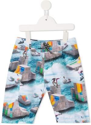 a3b89cd772603 Molo skateboard print swim shorts