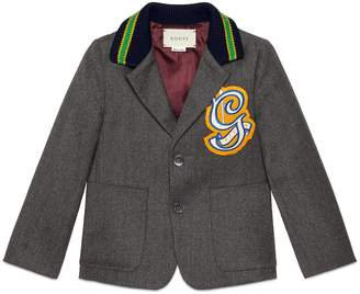 Gucci Children's wool jacket with G patch