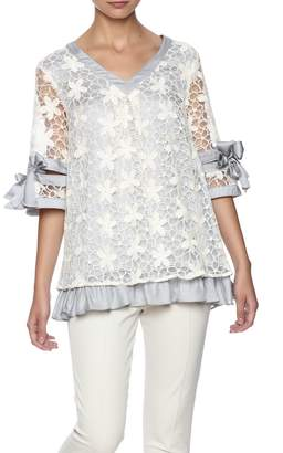 Ryu Dreamy Lace Overlay Top