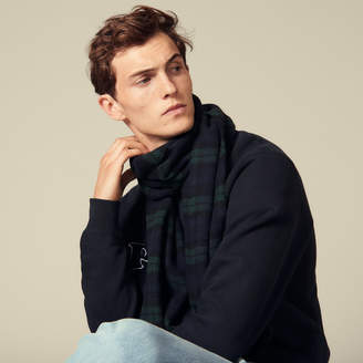 Sandro Checked Wool Scarf