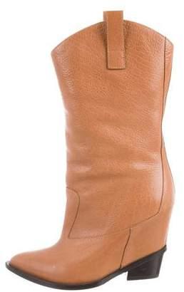 Giuseppe Zanotti Leather Mid-Calf Boots