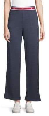 Tommy Hilfiger Logo Waist Wide-Leg Pants