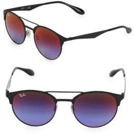 Ray-Ban 51MM Round Browline Sunglasses