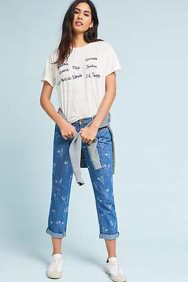 Current/Elliott The Fling Mid-Rise Relaxed Straight Jeans
