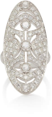 NOA Art Deco 18K White Gold Diamond Ring