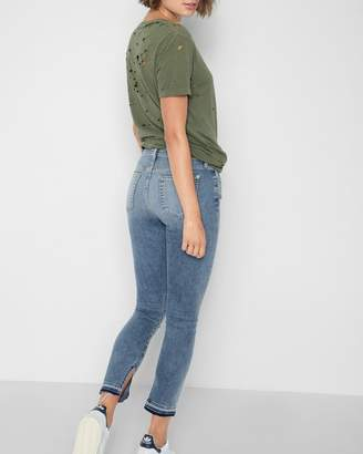 7 For All Mankind Ankle Skinny with Inside Split Released Hem in Light Lafayette